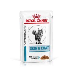 Royal Canin Vet Care Nutrition Skin & Coat Cat Wet 48x85g Pouches