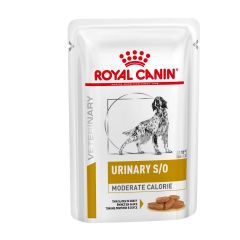 Royal Canin Urinary S/O Moderate Calorie Adult Dog Food Thin Slices in Gravy 48x100g pouch