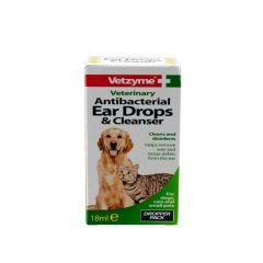 Vetzyme Antibacterial Ear Drops and Cleanser 18ml