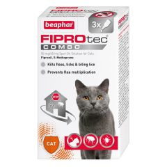 Beaphar FIPROtec Combo Spot-on Solution for Cats - 3 Pipettes