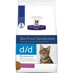 Hills Prescription Diet d/d Skin/Food Sensitivities cat food with Duck & Green Pea Dry 1.5kg