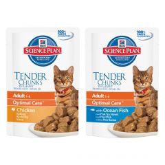 Hills Science Plan Adult Cat Optimal Care Wet Food