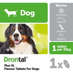 Drontal Plus XL Tasty Bone Dog Worming Tablet