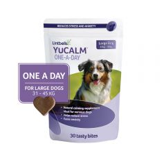 YuCalm One-A-Day Chewies for Large Dogs - Pack of 30