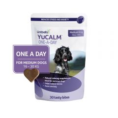 YuCalm One-A-Day Chewies for Medium Dogs- Pack of 30