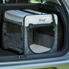 Henry Wag Folding Fabric Travel Crate- Large 74x48x55cm