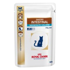 Royal Canin Veterinary Diet Feline Gastro Intestinal Moderate Calorie Wet 48x100g Pouches