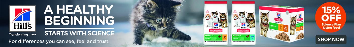 Shop Hill's Science Plan Kitten diets now!