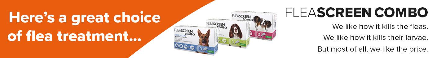 FleaScreen Combo for double flea control