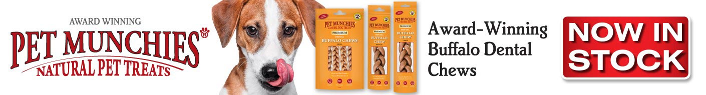 Now in Stock Buffalo chews from Pet Munchies