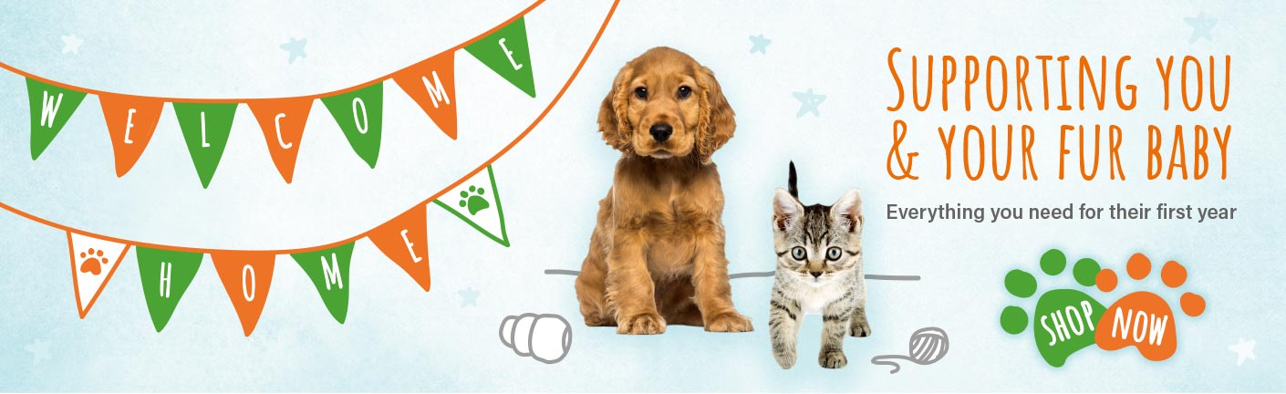 Everything you need for your puppies & kittens