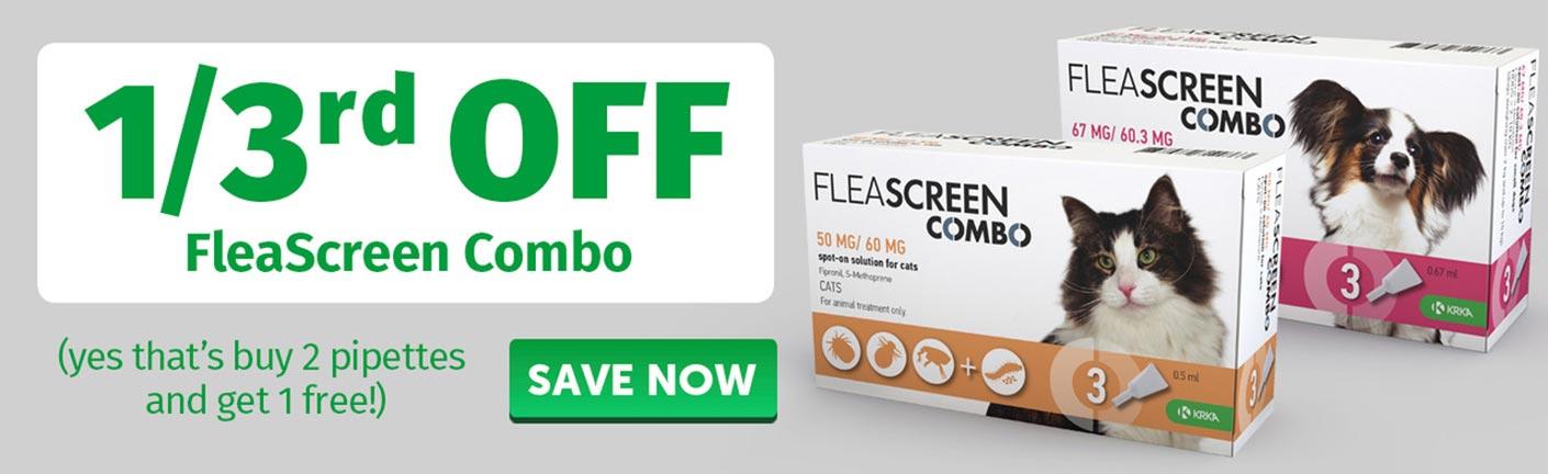 1/3rd off Fleascreen Combo