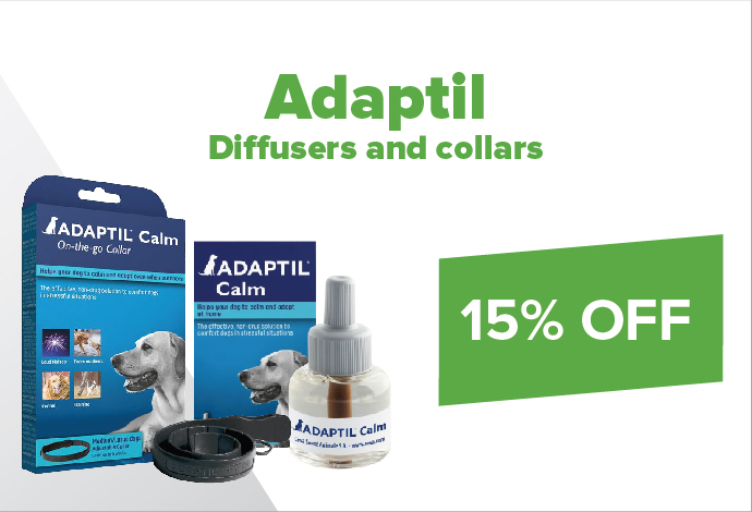 Keep Calm and SAVE 15% off Adaptil collars & diffusers