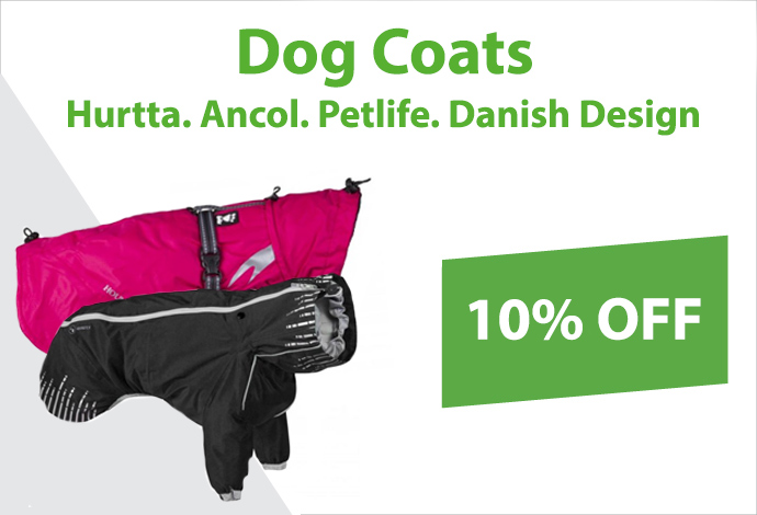 Shop our range of dog coats now!