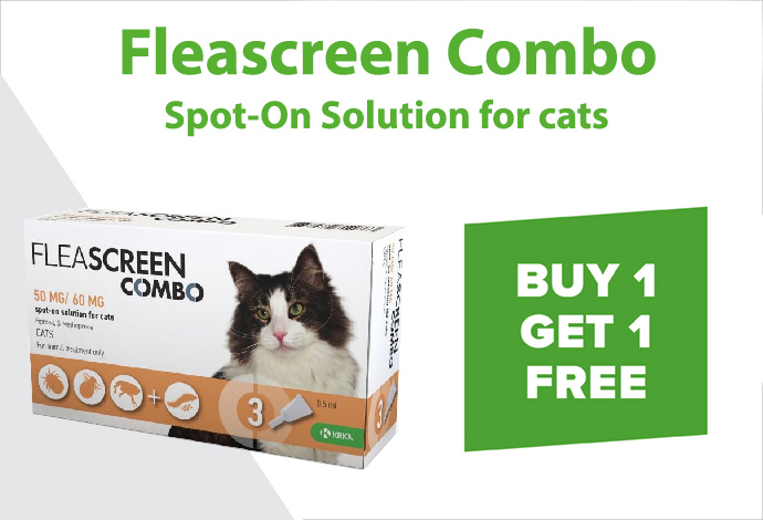 Shop Fleascreen Combo for Cats now!