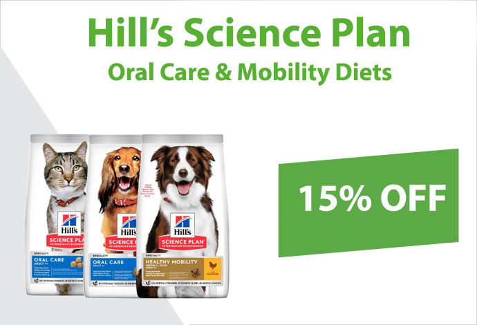 Hills Oral Care and Mobility Diets