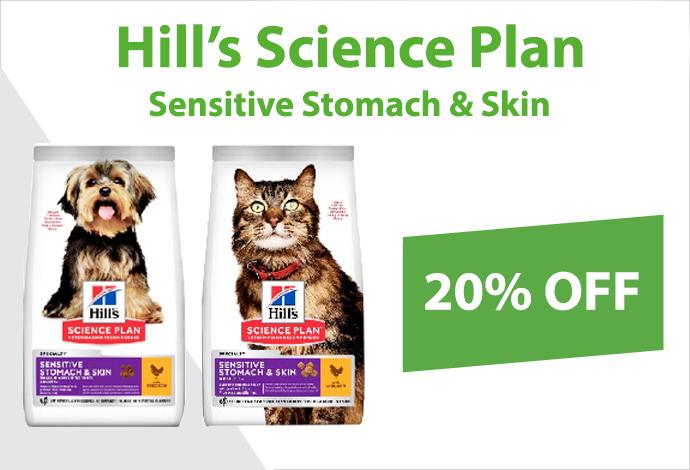 Shop Hill's Science Plan Sensitive Stomach & Skin now!