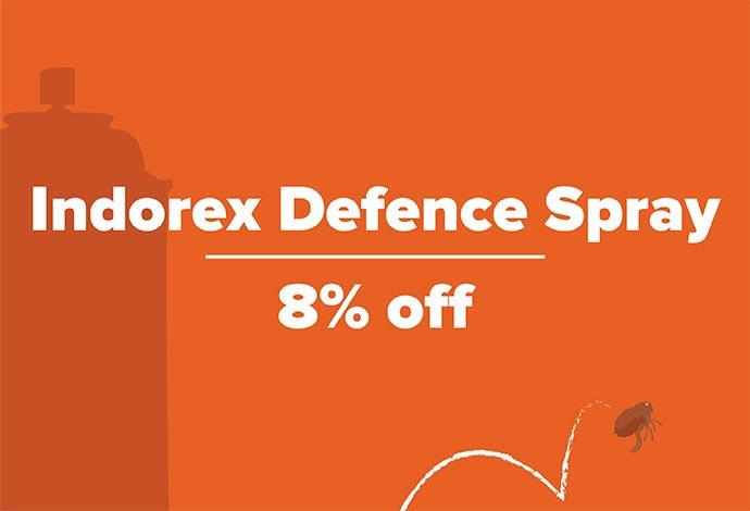 8% off Indorex Defence Spray