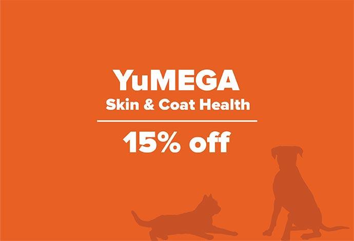 15% off YuMEGA Skin & Coat Health