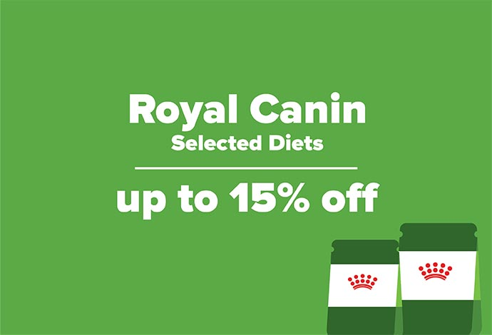 Up to 15% off selected Royal Canin diets