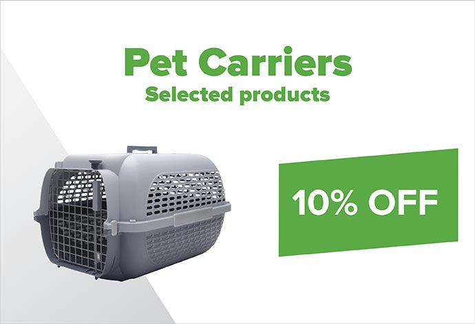 Save 10% off Pet carriers