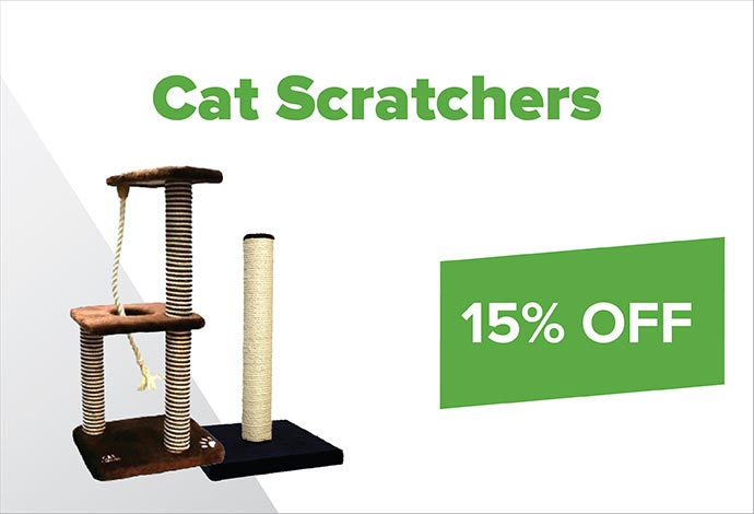 SAVE 15% off cat scratchers during August